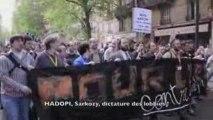 Défilé contre le projet de loi HADOPI (Création et Internet)