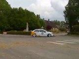 Rallye de Dieppe 2009 ES1 épingle  Cressy 205 GTI saxo...