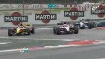 GP2 Barcelona 2009 race 1 Di Grassi battle and big crash