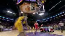 Trevor Ariza steals the pass and finishes with authority aga
