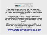 Missing Persons - MSI Detective Services
