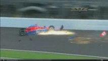 IRL Indy 500 2009 practice John Andretti crashes