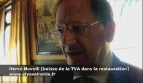 Hervé Novelli sur la baisse de la TVA dans la restauration
