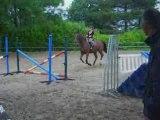 Moi et Caroussel à l'obstacle