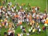 Envahissement supporters lensois au stade bollaert