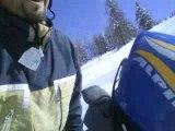 descente à ski avec valentin