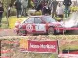 crash de Brunson au rallye de dieppe 2009