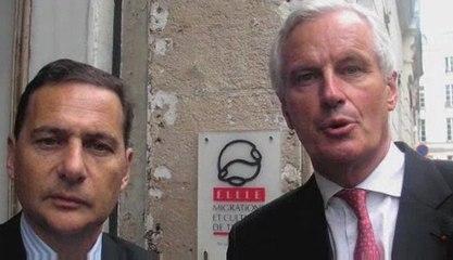 Déplacement intégration INtw Michel Barnier et Eric Besson