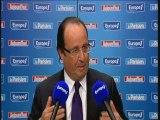 """Hollande : Sarkozy et Merkel ont écrit un """"tract UMP-CDU"""""""