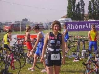 championnat de france triathlon jeunes sur tricastin 2009