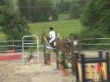 florian au concours départmental de la savoie d'équitations