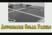 Affordable Solar Panels-Cheap & Affordable Solar Panels