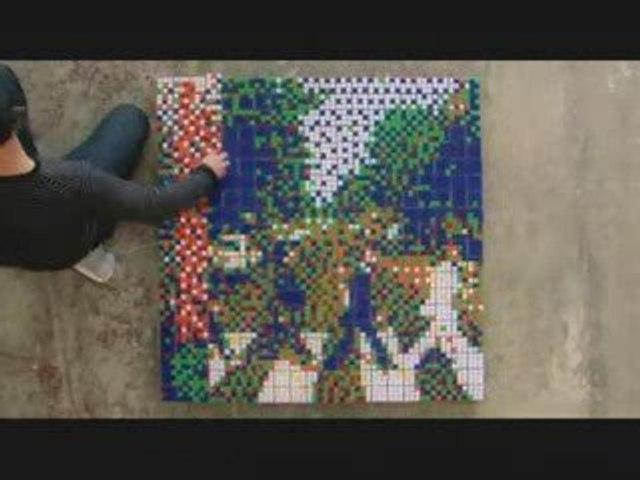 Rubiks Cube & pochettes de disques