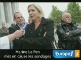 Marine Le Pen met en cause les sondages