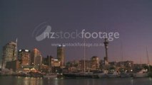 Auckland City and Sky Tower Time Lapse
