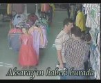 Aksaray'da alışveriş merkezinde hırsızlar kameraya yakalandı