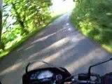 Film d'une ballade à deux sur la moto n°1