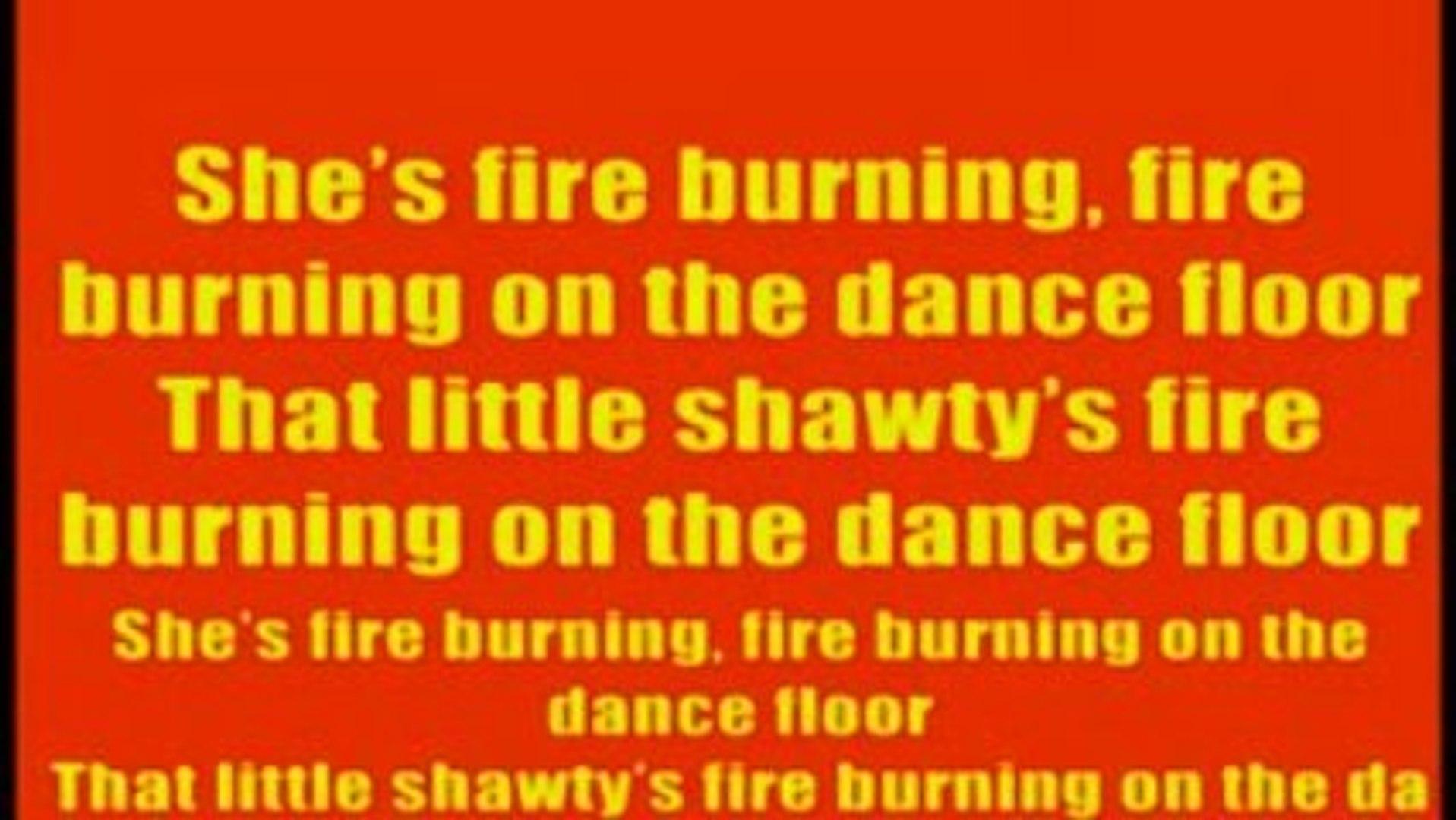 Fire Burning Karaoke By Sean Kingston Lyrics On Screen Video Dailymotion