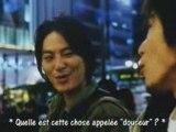 Michishirube une musique de PhilHarmoUnique pour le film Ikigami, the ultimate limit, ici chantée par l'acteur Yuta Kanai Je peux perdre face à la pluie et  face au vent, mais je montrerai toujours le chemin