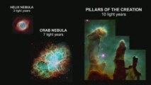 Universe stars planets galaxies Size Comparison 2009