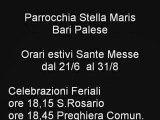Orari estivi sante messe Stella Maris PAlese