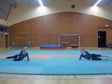 les écureils spectacle de gymnastique Lisa et Adélaïde